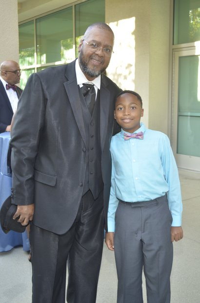 Tommy Morrow and grandson, DaKari Veals