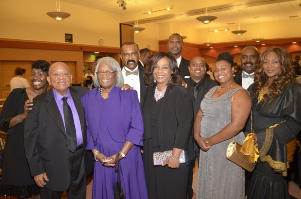Lashell Curtis, Pastor Joseph & Evelyn Curtis, Dr, Reginald Lawrence and wife, Phillip Curtis & wife, and Rev. William & Brenda Simms