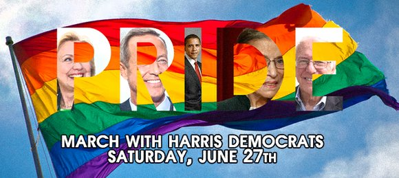 This Saturday, Harris Democrats will be participating in the Houston LGBT Pride Parade and we want you to join us.