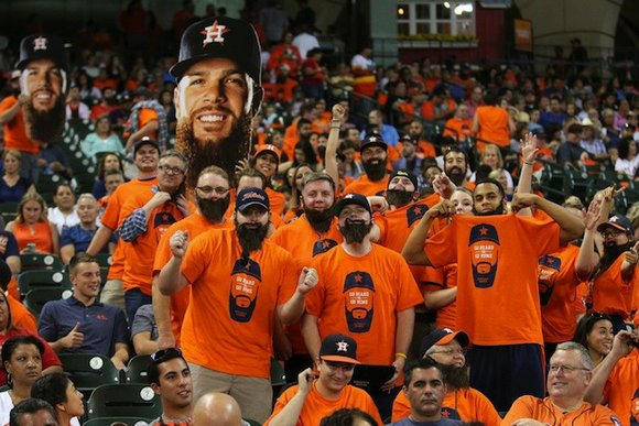 The Houston Astros are debuting the new Keuchel's Korner fan section, located in sections 105 and 106 along the third ...