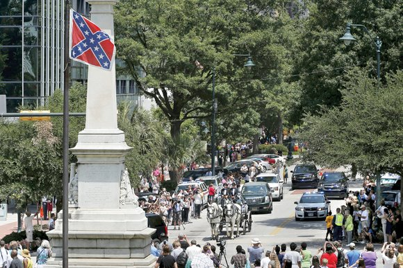 Charleston church massacre spurs removal of racist symbols