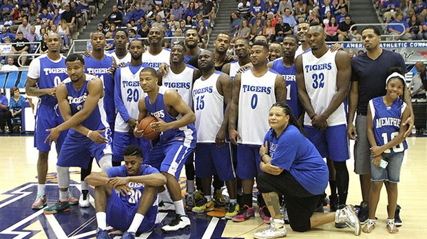 Here's one for the history book – a group photo of the Tigers who returned for the first Memphis Tigers Alumni Game. (Photo: Warren Roseborough)