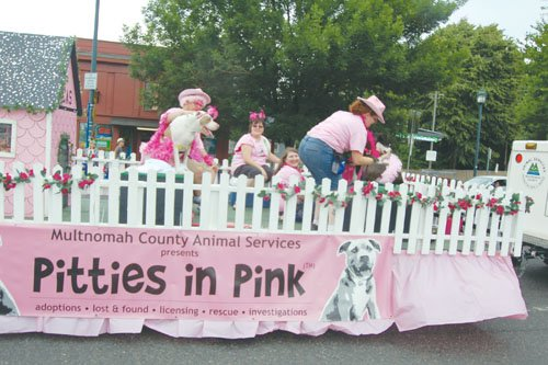 Multnomah County Animal Services celebrate Pitties in Pink, adorable pitbulls dressed in tutus and pastels to show their docile and loving spirits as adoptable pets.