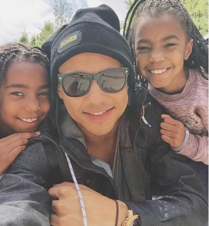 Diddy's three young daughters and Quincy