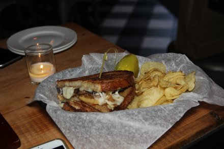 Pork belly grilled cheese