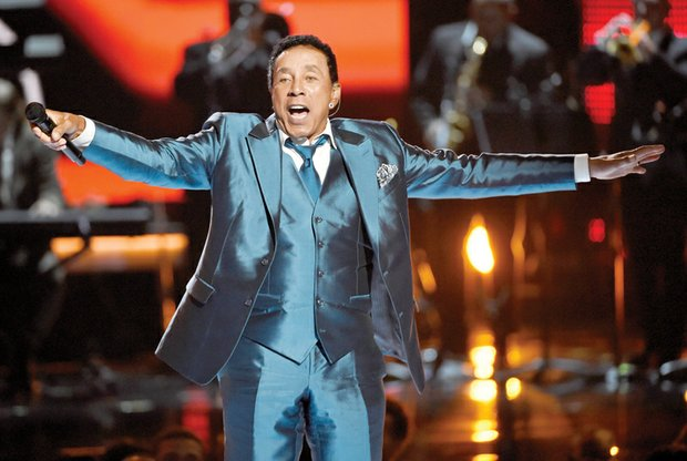 Smokey Robinson, honored with the Lifetime Achievement Award, performs a medley of his hits