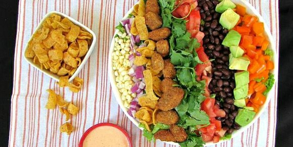 Meatless Monday: Southwest Salad with Creamy Chili-Lime Dressing