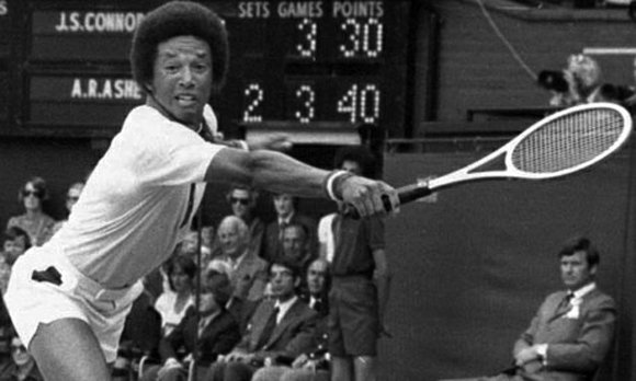 The late Arthur Ashe Jr.'s iconic tennis career reached a summit 40 years ago on the pristine grass of Centre ...