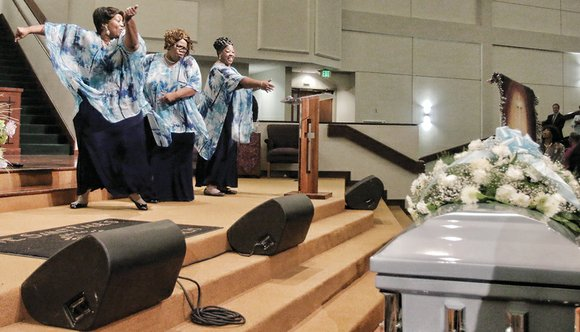 The Ingramettes delivered a powerful farewell to Mother Maggie Ingram at her homegoing service Thursday, July 2, at Saint Paul's ...
