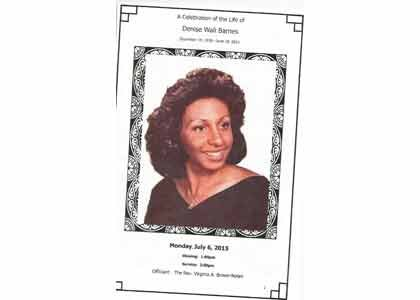 Funeral services were held on Monday, July 6 for Denise W. Barnes, a veteran journalist who served as managing editor ...