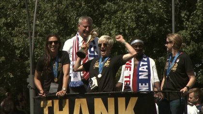The U.S. Women World Cup champions were honored Friday, July 10th with a ticker-tape parade in New York, a historic and rare moment for female athletes.