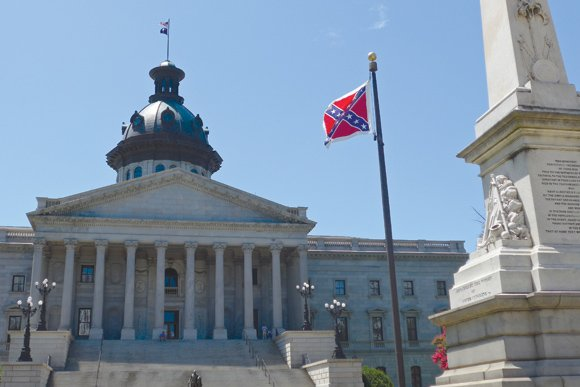 It was a media event when the Confederate battle flag come down Friday in South Carolina, but apparently nobody was ...