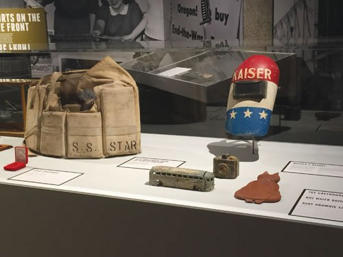 """World War II: A World at War, A State Transformed,"" a new major exhibition at the Oregon Historical Society featuring ..."