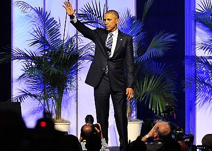 President Barack Obama addresses the 2015 NAACP National Convention.