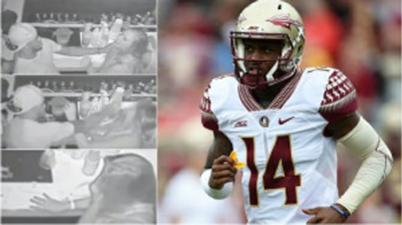 Florida State QB De'Andre Johnson should have walked away before punching a woman in the face.