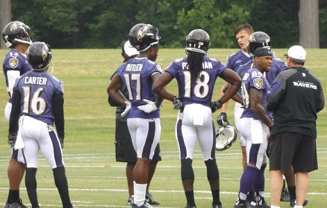 There was a buzz among the media about the Baltimore Ravens wide receivers throughout OTAs and mini-camps.