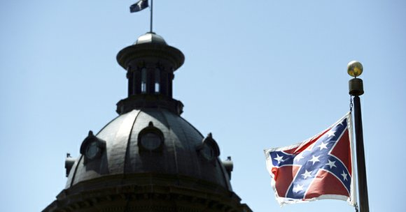 Five days after South Carolina retired the Confederate flag with much fanfare, a small group of protesters in Oklahoma City ...