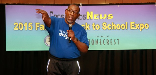 New DeKalb Schools Superintendent Dr. R. Stephen Green took to the stage to greet expo visitors.