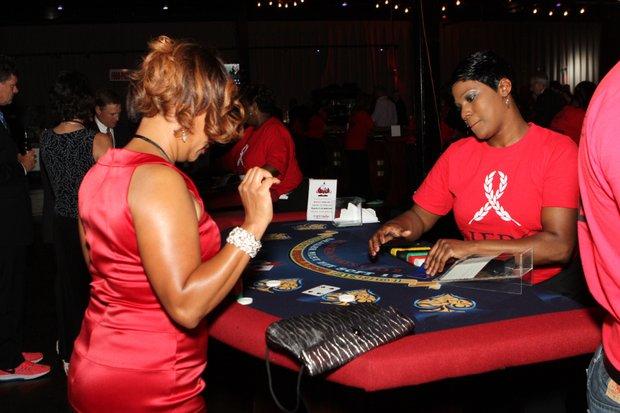 Fun at the Blackjack table.