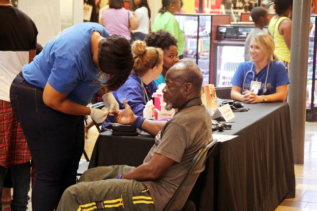 Oakhurst Medical Centers offered diabetes and blood pressure screenings at the Expo.