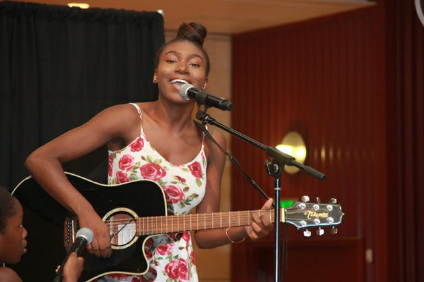 Gospel singer Taylor Madison Rose made an encore appearance at the Family & Back-to-School Expo.