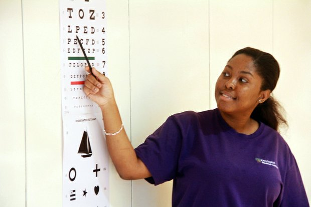 Oakhurst Medical Centers offered vision and hearing screenings for students headed back to school.