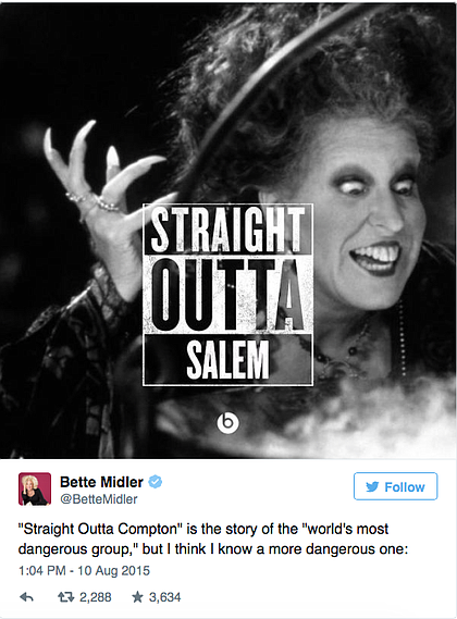 bette midler and hocus pocus just won the straight outta compton