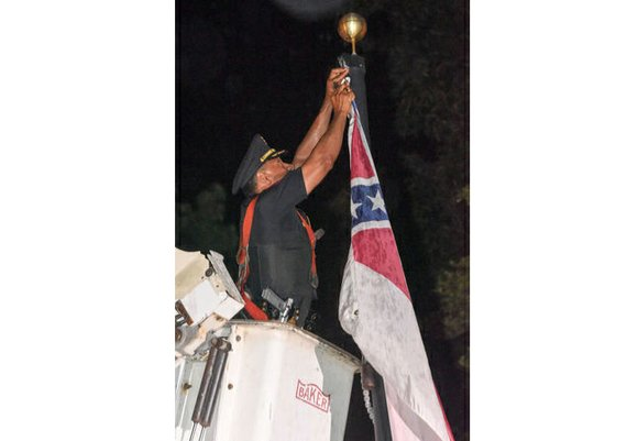A rebel flag no longer flies from a historic city-owned mansion in this southern Virginia city that briefly served as ...