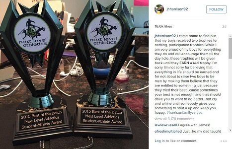 Whoa, who knew the debate over participation trophies -- those awards children get just for showing up and playing sports ...