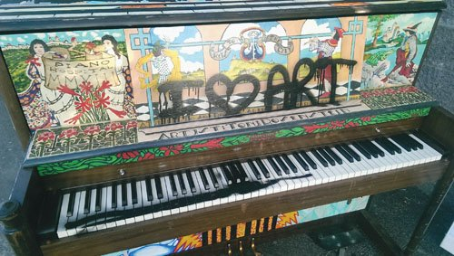 "The School of Piano Technology for the Blind's ""Keys to the City"" program experienced its first-ever act of vandalism Saturday ..."