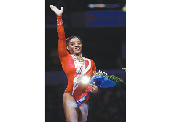 Simone Biles' friends are running out of words to describe her almost as quickly as Biles is running out of ...