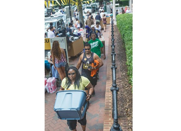 A record 4,050 freshmen started classes this week at Virginia Commonwealth University, with a remarkable 51 percent being African-American, Asian, ...