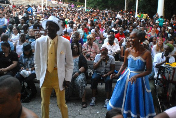 "A glorious production of the Broadway classic ""The Wiz"" graced the stage at Marcus Garvey Park as part of the ..."