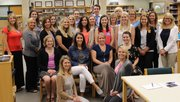 Troy's new teachers are Tavy Muraga (front row, from left) and Jamie Busz; Teresa Fierke (sitting, from left), Lauren Widlowski, Megan Janssen and Kelsey Hagan; Jane Bryson (third row, from left), Carrie Scholtes, Aly Black, Lisa Schuld, Alexa Johnson, Brittany Ward, Jessica Sikorski and Jacquelyn Hartland; Mindy Rodeghero (back row, from left), Kaylee Stubitz, Ashley Smith, Sarah Patterson, Paige Sandal, Mary Beth Blaauw, Erin Locke and Karen Rivera.