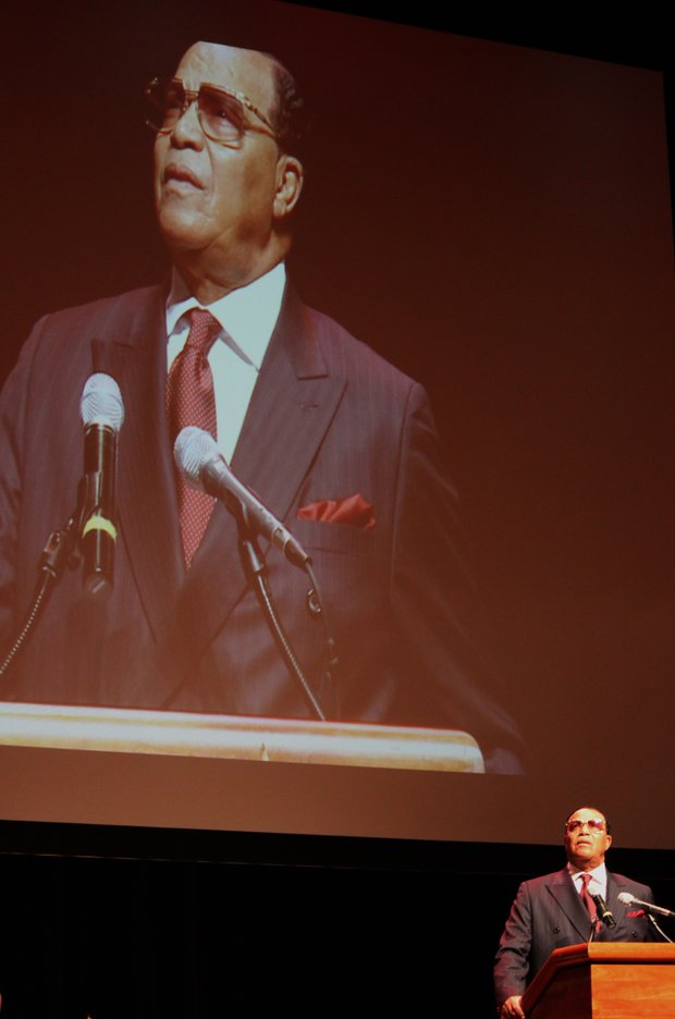 As he has during 60 years of teaching, Minister Louis Farrakhan spoke truth to power and power to the powerless at the Cannon Center Thursday night.