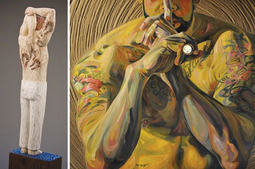 "Two local artists have created works from the same model in their new exhibit entitled 'The Tattoed,"" the September show ..."