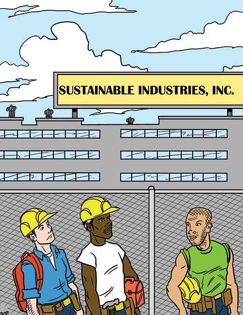 """I wish their commitment to sustainability included the amount of our paycheck."""