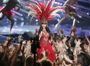 Nicki Minaj performs Sunday for an enthusiastic audience at the MTV VMAs.