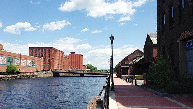 Building the Holyoke Canal Walk is a major part of the Holyoke Innovation District efforts as it links buildings and sites throughout.