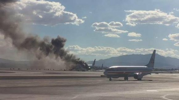 A British Airways flight caught fire on the runway at the Las Vegas airport Tuesday, sending 13 people to local ...
