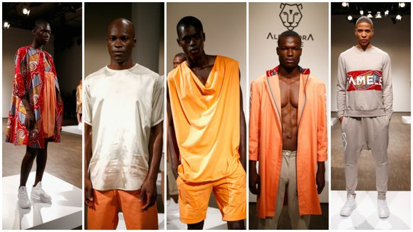 Alexandra Tamele, 22, presented a striking, brightly colored collection of menswear and a women's line at the Berlin Fashion Week ...