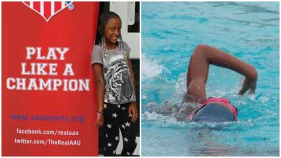 On July 31, 2015, 9-year-old Kennedy Stokes won a medal for the 100 Breast at the annual AAU Junior Olympic ...