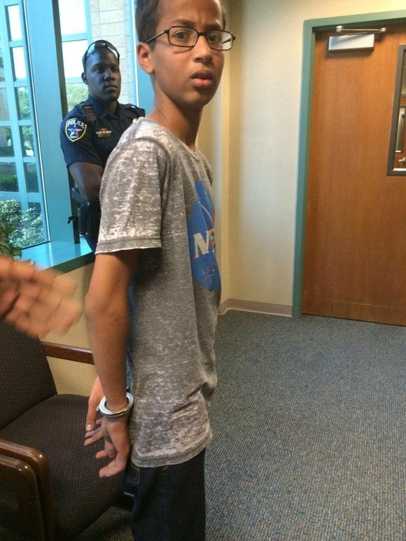A federal lawsuit has been filed on behalf of Ahmed Mohamed, the Muslim teen who was detained and hauled off ...