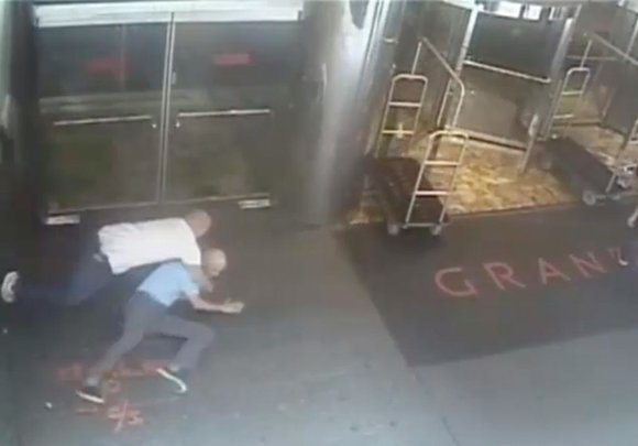 The New York City Police Department on Friday released a security camera video showing former tennis star James Blake being ...