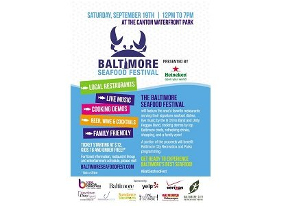 The Baltimore Seafood festival will feature signature seafood dishes ranging from raw oysters, lobster lasagna, shrimp ceviche, grilled oysters, and ...
