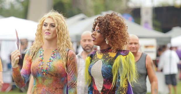 Virginia PrideFest // Stacy Max and Raquelle S. Colby of Godfrey's Angels take part in Saturday's festival.
