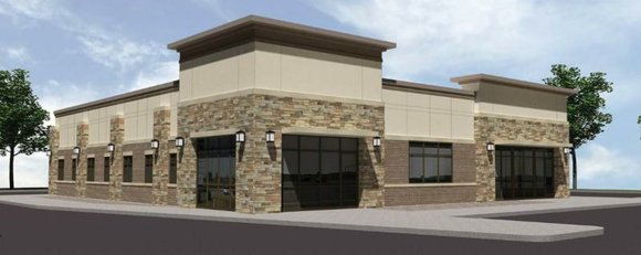 Part of the new 5,600-square-foot building will earmarked for a 2,400-square-foot restaurant, village officials said.