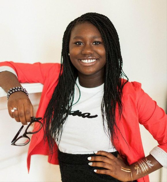 "14-year-old Zandra Azariah Cunningham is the president and CEO of Zandra Beauty, which sells ""fun, fresh and natural"" bath and ..."