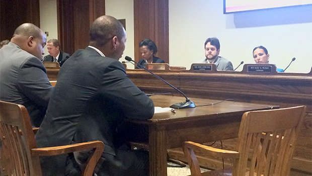 Lawrence Mayor Dan Rivera and Boston Education Chief Rahn Dorsey testify during a hearing on early education bills at the State House last week.