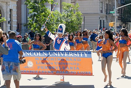 Lincoln University Marching Band at the African-American Day Parade